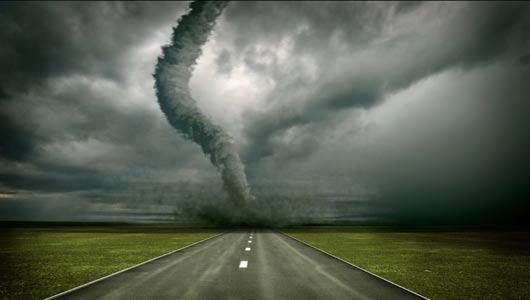 Tornado Pat raast door het darthonk
